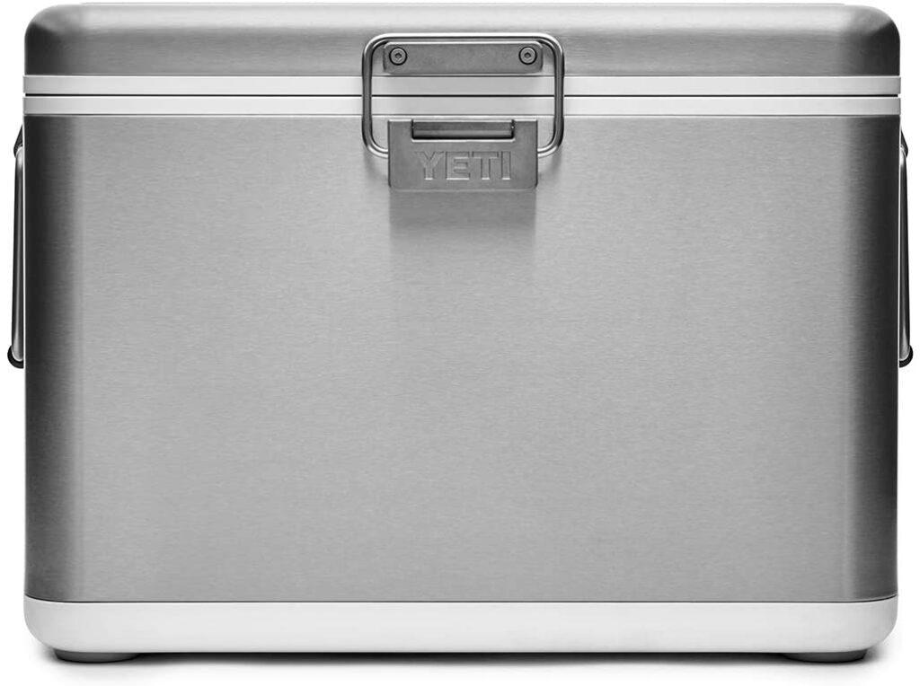 Yeti stainless steel cooler