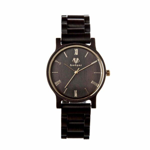 Front of Ebony Wood Watch