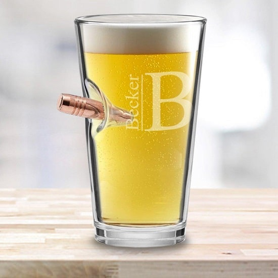 Personalized Bullet Pint Glass - 16oz.