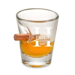 Personalized Bullet Shot Glass - 1.5oz. - Custom Monogram Engraving