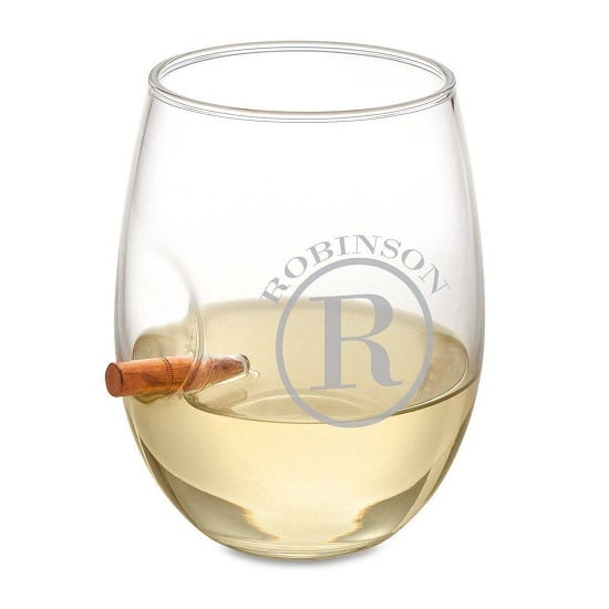 Personalized Bullet Stemless Wine Glass – 15oz.