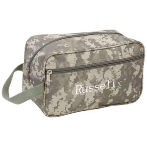 Personalized Camouflage WaterResistant Dopp Kit