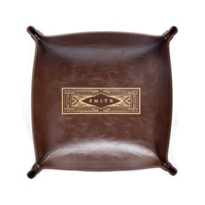 Personalized Leather Catch All Tray (By Swanky Badger)