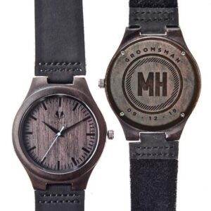 Personalized Sandalwood Classic Wood Watch (By Swanky Badger)