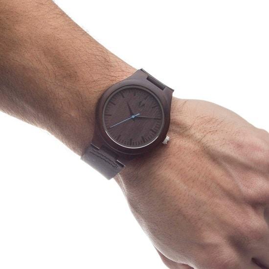The Swanky Badger Sandalwood Wrist Watch being worn by a groomsman