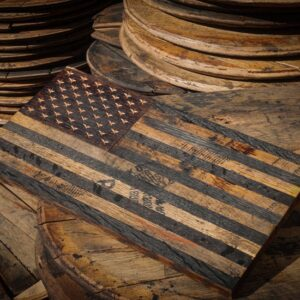 Wooden American Flag - WhiskeyMade from Bourbon Barrels