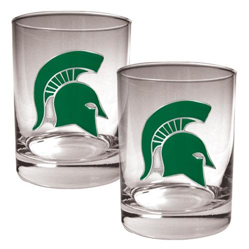 NCAA 2pc. Rocks Glass Set