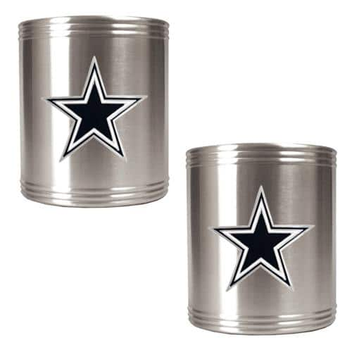 NFL 2pc. Stainless Steel Can Holder Set