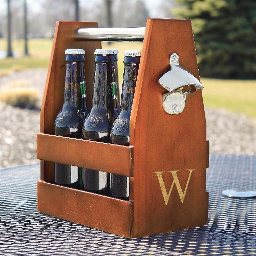 Engraved Wooden Six Pack Beer Holder
