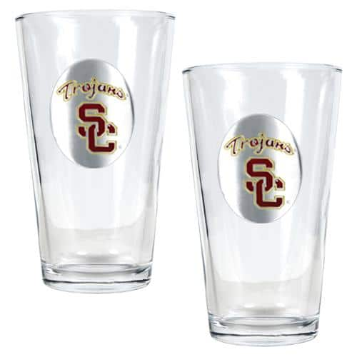 NCAA 2pc. Pint Ale Glass Set