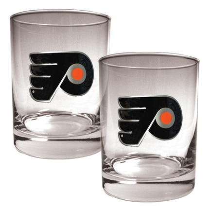 NHL 2pc. Rocks Glass Set