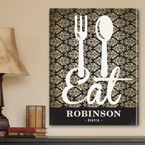 Personalized Family Bistro Canvas Print - The Man Registry