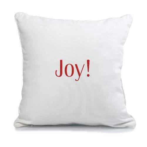 Joy Christmas Throw Pillows :