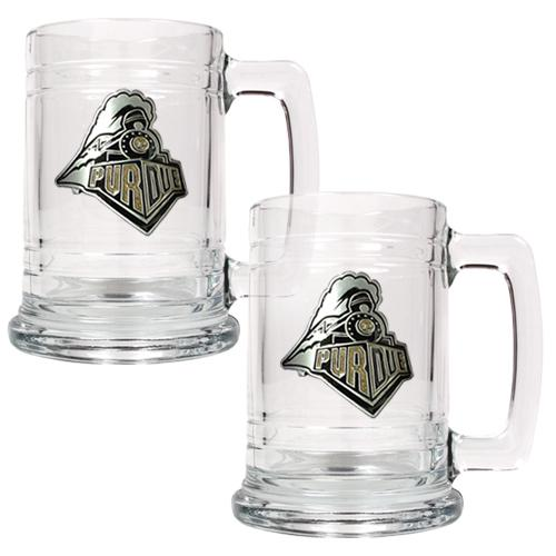 NCAA 2pc. 15oz. Glass Tankard Set